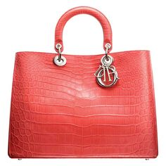 M0901PCCR M318 Matt light coral crocodile 'Diorissimo' bag