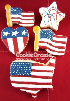 CookieCrazie: Guess the Challenging Cookie Project Blue Cookies, Summer Cookies, Fancy Cookies, Royal Icing Cookies, Holiday Cookies, Cookie Frosting, 4th Of July Desserts, Fourth Of July Food, 4th Of July Party
