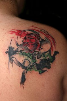 Beauty and the Beast rose.  Link leads to whole page of BEAUTIFUL Disney-inspired tattoos. @Taylor Kyle  AHH TAYLOR I CAN TAG YOU AGAIN!