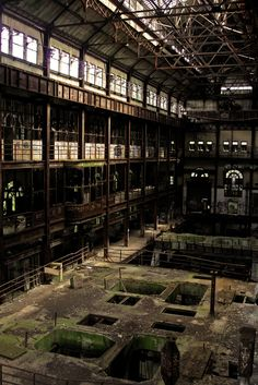 Turbine hall,from an  abandoned power plant.