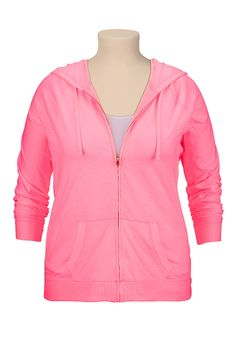 Lightweight zip front plus size hoodie - maurices.com