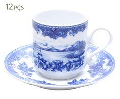Conjunto de xícaras para café com pires maria barco de rabelo | Westwing - Casa & Decoração