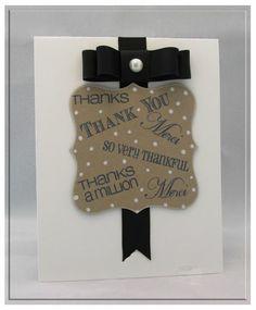 Card created using Gina K. Designs  Lots of Thanks Stamp Set. #gina k designs #gkd #thank you card