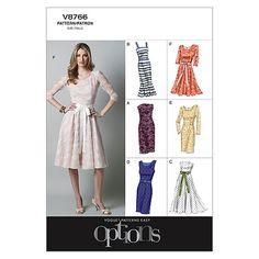 Misses'/Misses' Petite Dress-D5 (12-14-16-18-20) Patternnull
