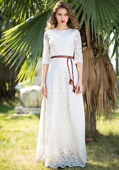 Floral Maxi Lace Dress @LookBookStore