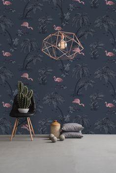 Flamingo Lake wallpaper design by Albany.
