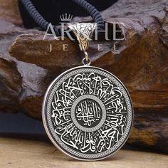 İhlas Suresi Yazılı Gümüş Kolye - Arkhe Jewel Jaba, Pocket Watch, Pendant Necklace, Watches, Accessories, Jewelry, Jewlery, Wristwatches, Jewerly