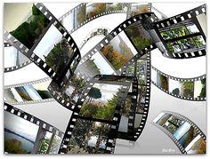 � ��� Gioco di immagini montate su di un vecchio rullino ... �