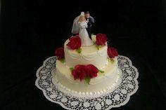 """Hochzeitstorte """"weiß mit Figur"""""""