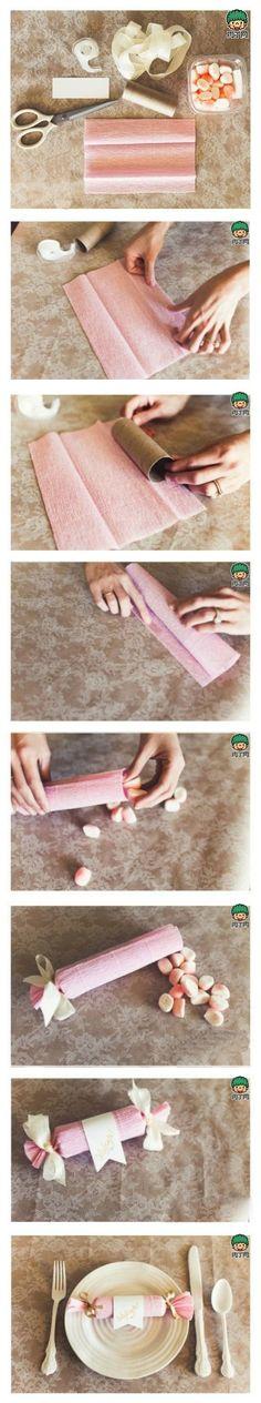 Chuches en envoltorio de papel crespón