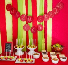 Candy Apple bar! LOVE LOVE LOVE