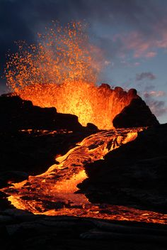 Forming the Hawaiian islands, Hawaii volcanoes are HOT!