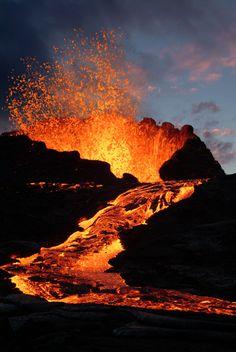 Forming the Hawaiian islands, Hawaii volcanoes are HOT!