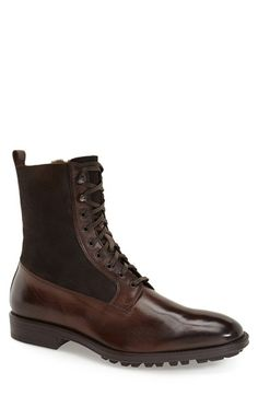 To Boot New York 'Edwards' Lace-Up Genuine Shearling Lined Boot (Men)