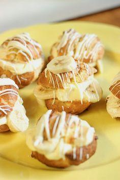 Diddles and Dumplings: Yummy Recipes: Banana Cream Puffs