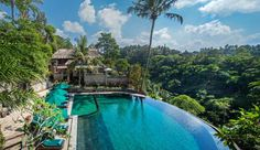 Bali best pools will be found in Ubud, where infinity pools are overlooking stunning river valleys and rice fields. A must-do in Bali! Ubud Resort, Resort Spa, Ubud Hotels, Pool Bar, Affordable Hotels, Best Hotels, Airbnb Accommodation, Tropical Pool, Garden Pool