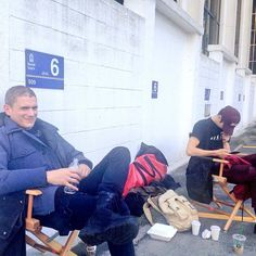 Grant Gustin, Wentworth Miller and Dominic Purcell