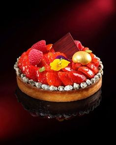 Strawberry Pistachio Tart | Pastry Gems at Ritz Carlton, Hong Kong