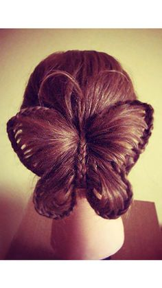 Butterfly - crazy hair styles for kids crazy hair spirit days