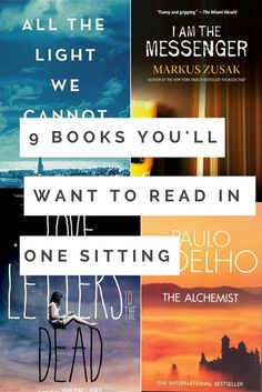 Book recommendations - 9 Books You'll Want to Read in One Sitting Best Books To Read, I Love Books, New Books, Book To Read, Feel Good Books, Fiction Books To Read, Best Books Of All Time, Great Books, Fiction And Nonfiction