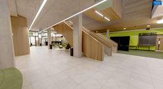 University College Birmingham Post graduate centre. Featuring floor tiles from Solus Ceramics.