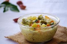 Avial - Kerala style mixed vegetables in a coconut yogurt curry