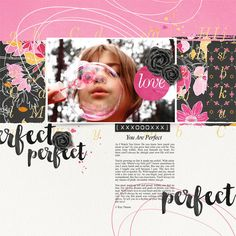 """""""Perfect"""" digital scrapbooking layout by Brandy Murry"""
