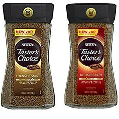 Nescafe Tasters Choice Instant Coffee Bundle Featuring a Jar Each of Tasters Choice French Roast Instant Coffee and Tasters Choice House Blend Instant Coffee * Want additional info? Click on the image.