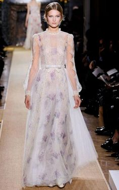 valentino dress 2012 with touches of lavender #weddingdress