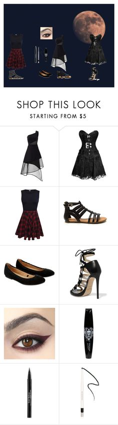 """in the night"" by alessandraanna on Polyvore featuring moda, David Koma, Accessorize, Jimmy Choo, Trish McEvoy e Givenchy"