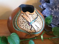 Dragonfly Gourd by Susans Gourd Art on Etsy