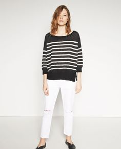 345e93aed53 Image 1 of NAUTICAL STRIPED SWEATER from Zara Jeans