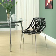Stencil Dining Side Chair in Black