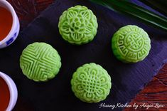 A non-bake mooncake, these fragrant pandan snow skin mooncakes are filled with creamy custard, pandan lotus paste and salted egg yolk.