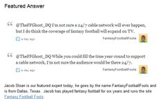 Do You Think a Fantasy Football Cable Network is Far Off? An Expert Opinion Poll    http://storify.com/TheFFGhost/do-you-think-a-fantasy-football-cable-network-is-f    #fantasyfootball #nfl