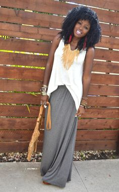 Long skirt and top Fashion