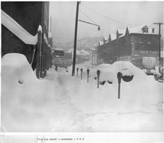 City Market, Turks, 1950 Snow East Liverpool Ohio, Chester, Happiness, Snow, City, Business, Sweet, People, Candy