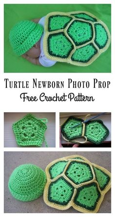 Crochet Turtle Newborn Photo Prop with Free Pattern Turtle Newborn Photo Prop Free Crochet Pattern Crochet Bebe, Crochet For Boys, Free Crochet, Crochet Hats, Booties Crochet, Irish Crochet, Crochet Baby Cocoon Pattern, Newborn Crochet Patterns, Crochet Turtle