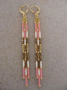 BEADING: dangle earrings