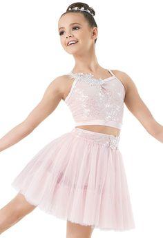 Weissman™ | Two-piece Sequin Tulle Skirt Set