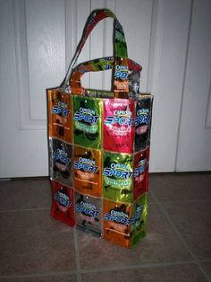 Capri Sun/Kool Aid Jammer Bags (now with mini-tute!) - PURSES, BAGS, WALLETS