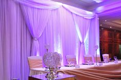 Wedding Chair Covers  Lighted Starlight Backdrops   Candelabra Hire   Designer Chair Covers To Go