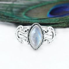 key pieces of trendy natural moonstone ring charm engagement rings 3 Rose Gold Moonstone Ring, Rainbow Moonstone Ring, Moonstone Jewelry, Blue Topaz Ring, Amethyst Gemstone, Gemstone Rings, Bohemian Rings, Boho, Charm Rings