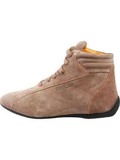 """#Sparco #Zapatos #para #Hombres Zapatos de caña alta, cierre con cordones y empeine de cuero plena flor forro en cuero plena flor anaranjado plantilla amortiguada y extraíble de cuero plena flor - suela de caucho con talón elevado - excelente flexibilidad y agarre y con protección de la parte posterior del empeine si se utiliza para conducir  marca imprimida con calor #Zapatos inspirados por el modelo de carrera """"Slalom"""" de Sparco, utilizados por los mejores pilotos de Fórmula 1."""