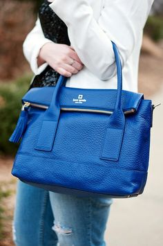Love my cobalt Kate Spade!