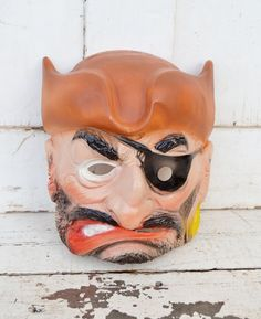 Pirate Mask Halloween Topstone Rubber Mean by RelicsAndRhinestones, $24.00