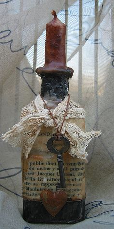 Grunge Bottle #1 by Kathy McElroy, via Flickr  not totally steampunk, but somewhat archaic