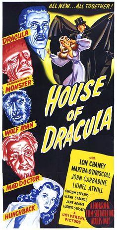 HOUSE OF DRACULA (1945)  w/ Lon Chaney Jr. & John Carradine