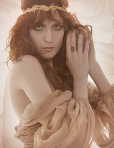 Florence Welch: Siren Song - Vogue UK by Mario Testino, January 2012