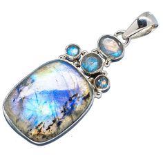 """Labradorite 925 Sterling Silver Pendant 2"""" PD542965"""